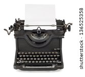 old typewriter with paper sheet | Shutterstock . vector #136525358