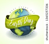 happy earth day holiday banner  ... | Shutterstock .eps vector #1365257336