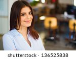 modern business woman in the... | Shutterstock . vector #136525838