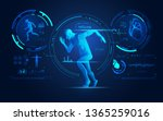 concept of sport science... | Shutterstock .eps vector #1365259016