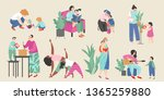set of vector illustrations on... | Shutterstock .eps vector #1365259880