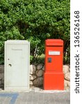 Red Mailbox On The Streets Of ...