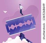 concept of risk. business man... | Shutterstock .eps vector #1365268649