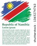 flag of namibia  republic of... | Shutterstock .eps vector #1365274763