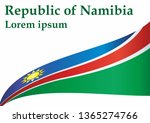flag of namibia  republic of... | Shutterstock .eps vector #1365274766