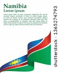 flag of namibia  republic of... | Shutterstock .eps vector #1365274793