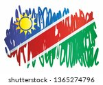 flag of namibia  republic of... | Shutterstock .eps vector #1365274796