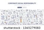 corporate social responsibility ... | Shutterstock .eps vector #1365279083
