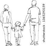 the family on back image... | Shutterstock .eps vector #1365293159