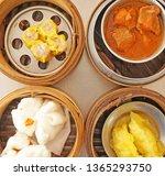thai food   top view of dim sum ... | Shutterstock . vector #1365293750