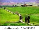 farmhouse in tuscany | Shutterstock . vector #136530050
