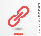 chain  link icon vector. link...   Shutterstock .eps vector #1365303479