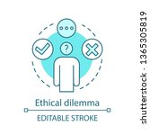 ethical dilemma concept icon....   Shutterstock .eps vector #1365305819