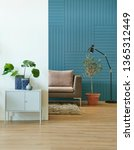 decorative textured blue wall... | Shutterstock . vector #1365312449