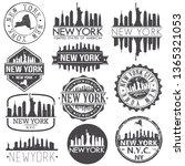 new york usa skyline vector art ... | Shutterstock .eps vector #1365321053