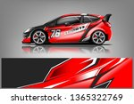 car decal wrap design vector.... | Shutterstock .eps vector #1365322769