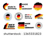 made in germany logo. set of... | Shutterstock .eps vector #1365331823