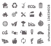 ecology basic icons | Shutterstock .eps vector #136534028