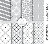 set of seamless patterns.modern ... | Shutterstock .eps vector #1365341270