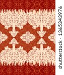 indian rug tribal ornament... | Shutterstock .eps vector #1365343976