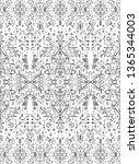 indian rug tribal ornament... | Shutterstock .eps vector #1365344003