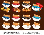 a vector collection of fox in... | Shutterstock .eps vector #1365349463