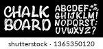 vector handmade roman alphabet  ... | Shutterstock .eps vector #1365350120