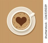 cup of coffee | Shutterstock .eps vector #136535039