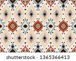 ikat geometric folklore... | Shutterstock .eps vector #1365366413