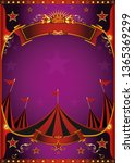 a circus purple poster with a... | Shutterstock .eps vector #1365369299