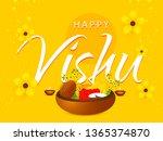 illustration of happy vishu... | Shutterstock .eps vector #1365374870