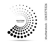 halftone dotted circle frame... | Shutterstock . vector #1365375326