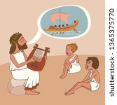 ancient greek story telling...   Shutterstock .eps vector #1365375770