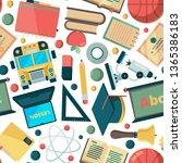 school seamless background.... | Shutterstock .eps vector #1365386183