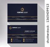business model name card luxury ... | Shutterstock .eps vector #1365409913