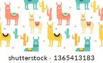 seamless pattern with decorated ... | Shutterstock .eps vector #1365413183