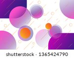 abstract geometric circle... | Shutterstock .eps vector #1365424790