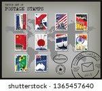 World Postage Stamp Template