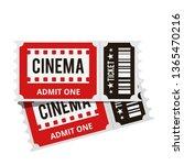 cinema tickets top view...   Shutterstock .eps vector #1365470216