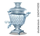 samovar with ornament isolated... | Shutterstock .eps vector #1365474350