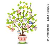 artificial easter plant with... | Shutterstock .eps vector #1365485039