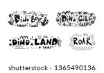 dino boy  dino girl  dino land  ...   Shutterstock .eps vector #1365490136