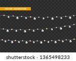 christmas decorations. silver... | Shutterstock .eps vector #1365498233