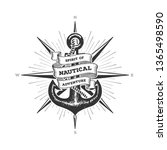 nautical typography emblem with ...   Shutterstock .eps vector #1365498590