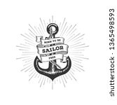 sailor typography emblem with... | Shutterstock .eps vector #1365498593