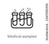 outline medical samples in test ... | Shutterstock .eps vector #1365500396