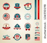 vintage label and ribbons award ... | Shutterstock .eps vector #136550198