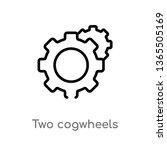 outline two cogwheels vector... | Shutterstock .eps vector #1365505169
