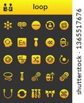 loop icon set. 26 filled loop... | Shutterstock .eps vector #1365517676