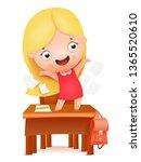 goodbye school  hello summer.... | Shutterstock .eps vector #1365520610